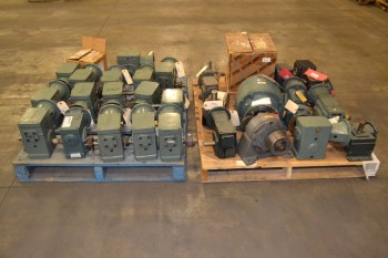 2 PALLETS OF ASSORTED GEAR REDUCERS