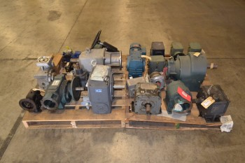 2 PALLETS OF ASSORTED GEAR REDUCERS, FALK, DODGE