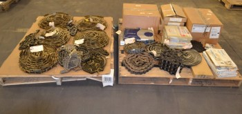 2 PALLETS OF ASSORTED ROLLER CHAINS