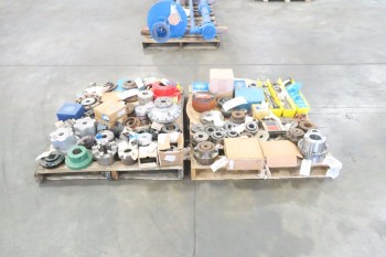 2 PALLETS OF ASSORTED COUPLINGS AND HUBS