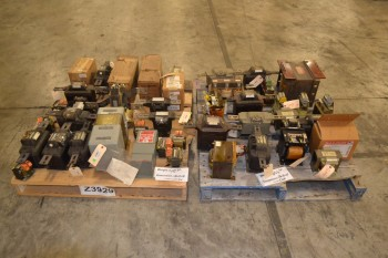 2 PALLETS OF ASSORTED TRANSFORMERS, GENERAL ELECTRIC