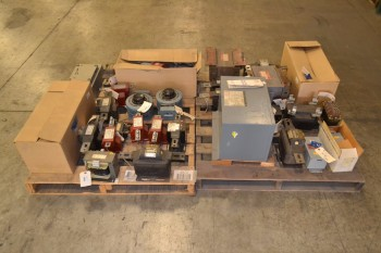 2 PALLETS OF ASSORTED TRANSFORMERS, SQUARE D