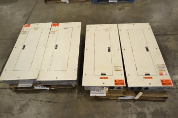 LOT OF 4 ASSORTED DISTRIBUTION PANELS, WESTINGHOUSE