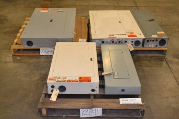 LOT OF 5 ASSORTED DISTRIBUTION PANELS
