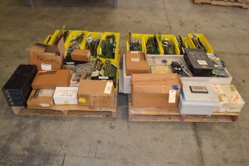 2 PALLETS OF ASSORTED CONTROLS, CONTROLLERS, HONEYWELL