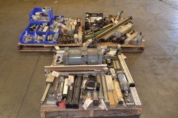 3 PALLETS OF ASSORTED PNEUMATIC CYLINDERS