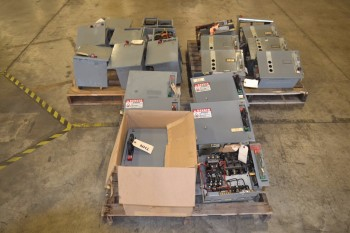 3 PALLETS OF ASSORTED STARTER MCC BUCKETS, ALLEN BRADLEY