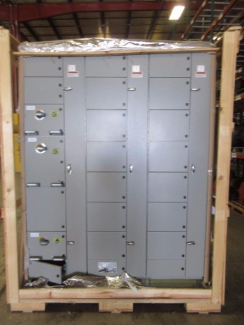NEW ABB MNS-MCC 3X VERTICAL MCC SECTIONS 3X FEEDER BUCKET SWITCHGEAR