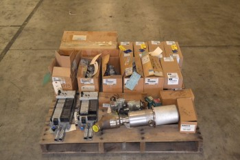 1 PALLET OF ASSORTED SOLENOID VALVES