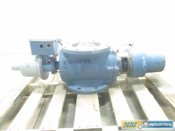 DEZURIK 8 IN PNEUMATIC 150 STAINLESS PLUG VALVE