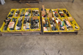 2 PALLETS OF ASSORTED PNEUMATIC VALVES AND VALVE PARTS