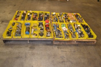 2 PALLETS OF ASSORTED VALVES AND VALVE PARTS