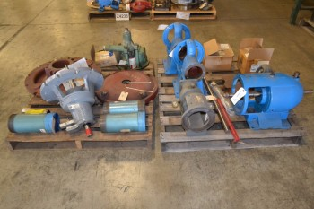 2 PALLETS OF ASSORTED PUMP REPLACEMENT PARTS