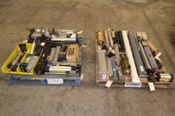 2 PALLETS OF ASSORTED PNEUMATIC CYLINDERS, FESTO