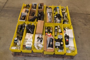 1 PALLET OF ASSORTED FILTER REGULATORS, NUMATICS
