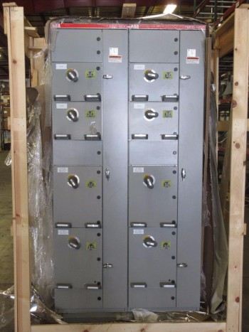 NEW ABB MNS-MCC 2X VERTICAL MCC SECTIONS 8X FEEDER BUCKET SWITCHGEAR