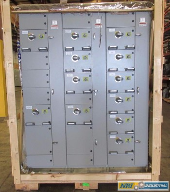 NEW ABB MNS-MCC 3X VERTICAL MCC SECTIONS 12X FEEDER BUCKET SWITCHGEAR