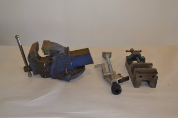 LOT OF 3 ASSORTED VICES AND CLAMPS