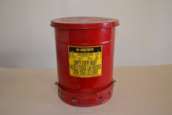 JUSTRITE 09300 OILY WASTE CAN, 10 GALLON CAPACITY