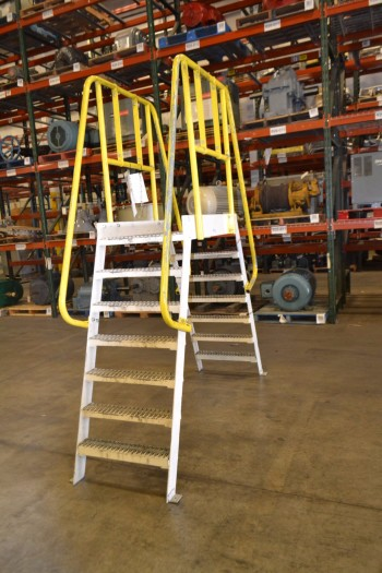 COTTERMAN ALUMINUM CONVEYOR WALK OVER LADDER