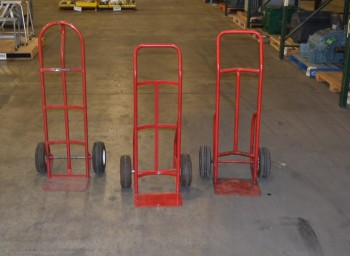 LOT OF 3 ASSORTED HAND TRUCKS