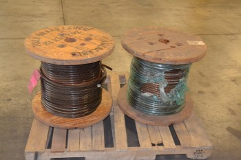 LOT OF 2 SPOOLS OF NEXANS AMERCABLE CABLE WIRE