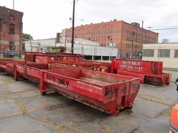 10 Dumpsters, 8-10 Yards, 1-15 Yard, 1-6 Yard