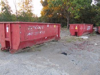 5 Dumpsters, 3-20 Yards, 1-15 Yard And 1-10 Yard
