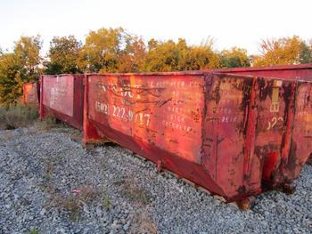 5 Dumpsters, 1-20 Yard 3-15 Yard And One-12 Yard