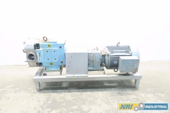 WAUKESHA SANITARY 3 IN 150 GPM POSITIVE DISPLACEMENT STAINLESS ROTARY LOBE PUMP