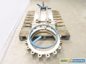 NAQIP 18 IN 150 STAINLESS FLANGED KNIFE GATE VALVE