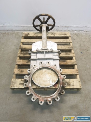 FLOW CONTROL 16 IN STAINLESS FLANGED KNIFE GATE VALVE