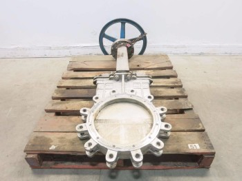 FNW 14 IN 150 STAINLESS FLANGED KNIFE GATE VALVE