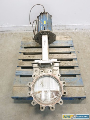 DEZURIK 14 IN 150 SS FLANGED KNIFE GATE VALVE