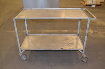 2-SHELF METAL UTILITY CART