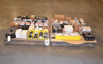 2 PALLETS OF ASSORTED CIRCUIT BREAKERS