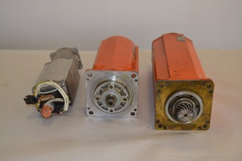 LOT OF 3 ASSORTED ABB ROBOTICS SERVO MOTORS