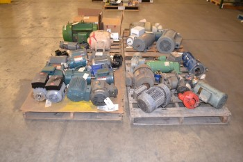 4 PALLETS OF ASSORTED AC/DC ELECTRICAL MOTORS