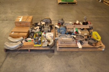 2 PALLETS OF ASSORTED VALVES AND REPLACEMENT PARTS