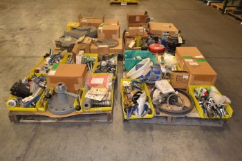 4 PALLETS OF ASSORTED VALVE REPLACEMENT PARTS