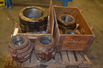 LOT OF 5 ASSORTED BABBITT BEARINGS