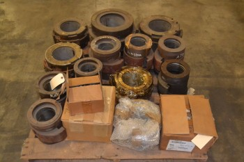 LOT OF 16 ASSORTED BABBITT BEARINGS AND BEARING SLEEVES
