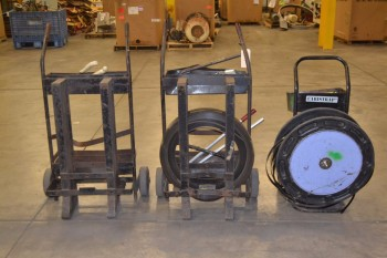 LOT OF 3 ASSORTED STEEL BANDING CARTS