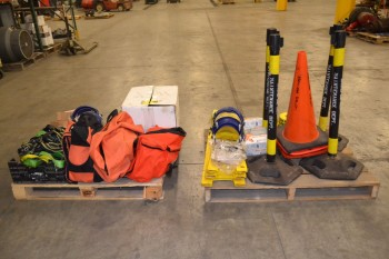 2 PALLETS OF ASSORTED SAFETY TOOLS AND EQUIPMENT