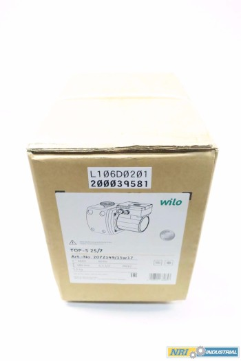 NEW WILO TOP-S 25/7 CIRCULATOR PUMP