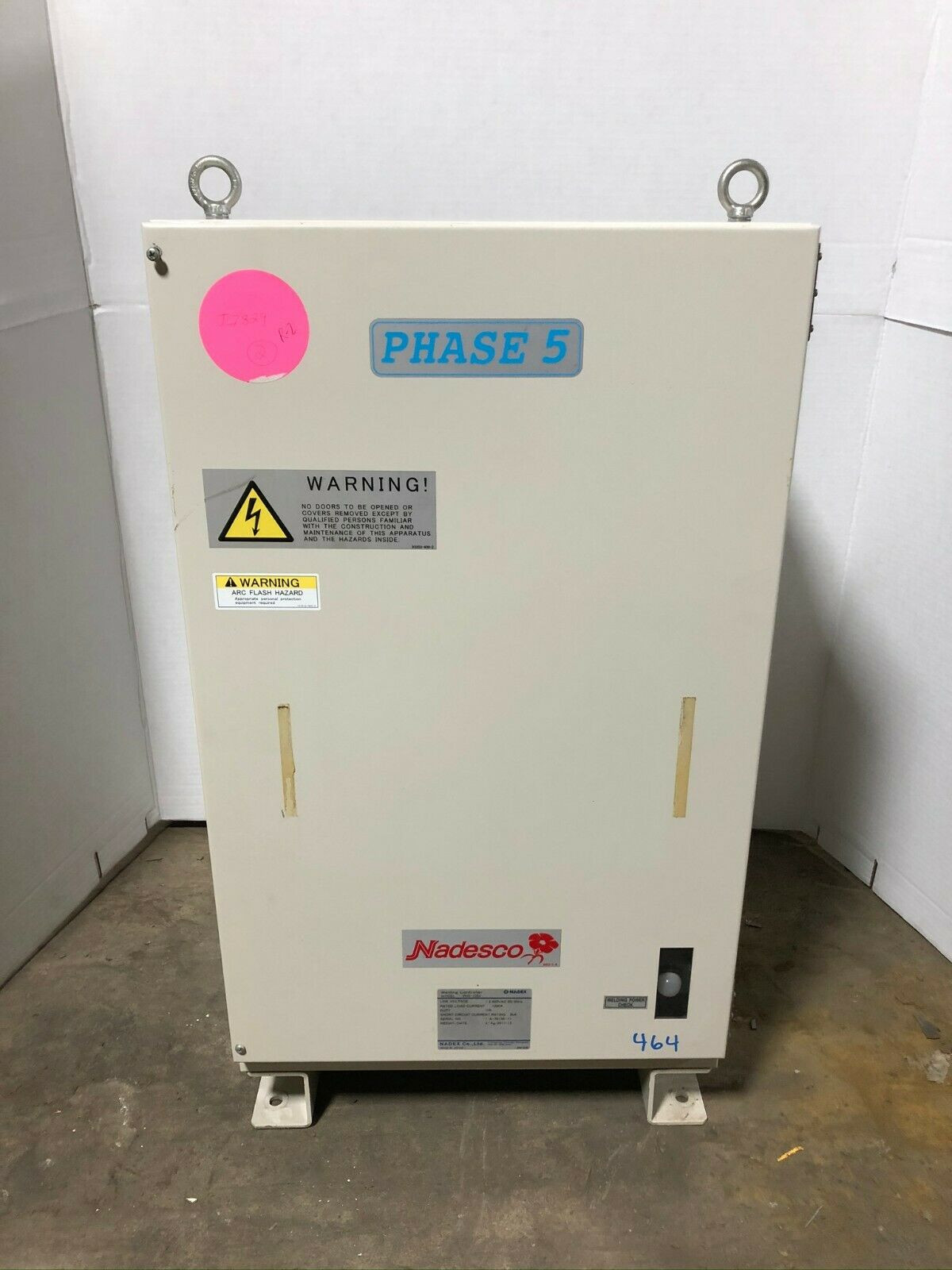 Nadesco Nadex PH5-1094 Welding Controller 480VAC 1200A 5kA