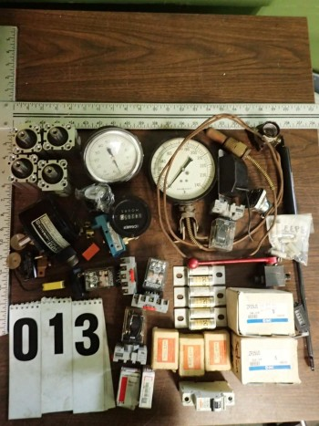 Assorted Automation Components incl. Heater Coils, Fuses, Cylinders