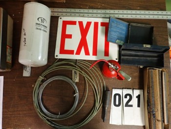 Hardware incl. Wire Rope, Oilers, Oil Filter, Belt Lacing, Exit Sign
