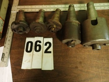 (5) NMTB-50 Shell Mill Arbors