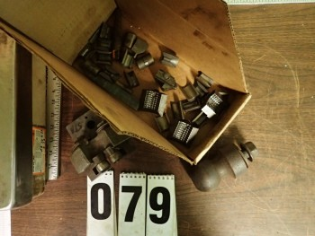 Mixed Lot Collet Pads, Ball Hitch, Roller Rests